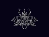 Scarab Line Illustration for Bug Bounty