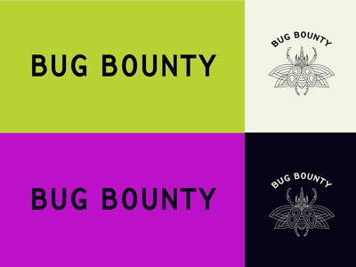 Bug Bounty Brand and Colors cream black purple green branding and identity colors insect logo branding
