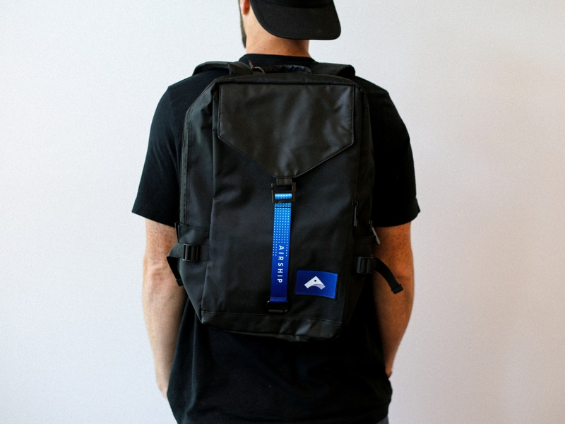 Airship Backpack backpack company branding branded swag company swag swag