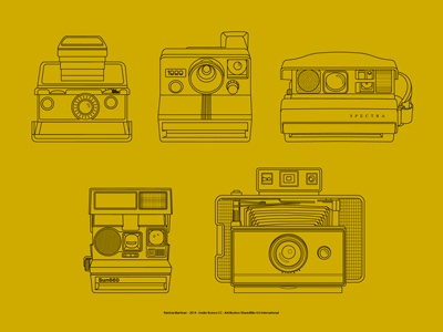 5 vintage polaroids Icons freebie vintage icons psd vector polaroids freebie pack details