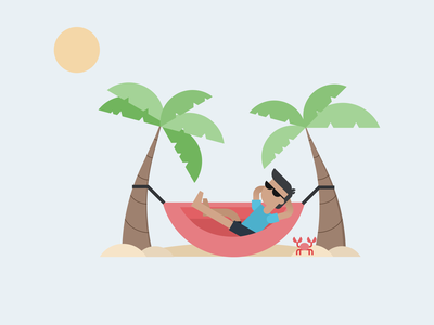 Beachy illustration graphic design vector illustration design