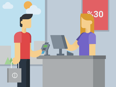 Shopping made easy vector illustration graphic design design