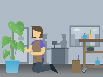 Plant Nursery plants illustration graphic design design