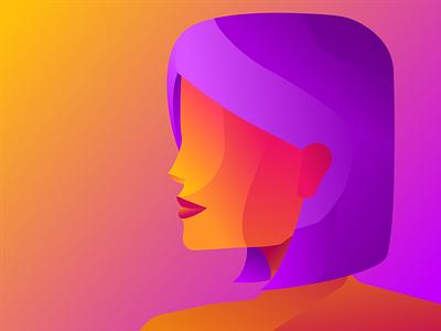 Instagram Lady instagram illustration graphic design design