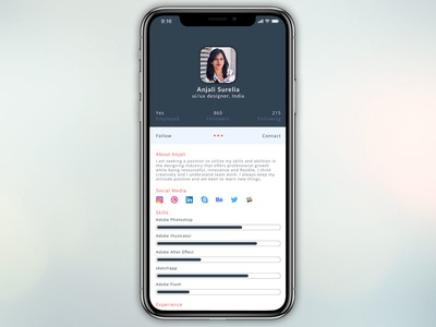 Daily UI challenge #006 — User Profile