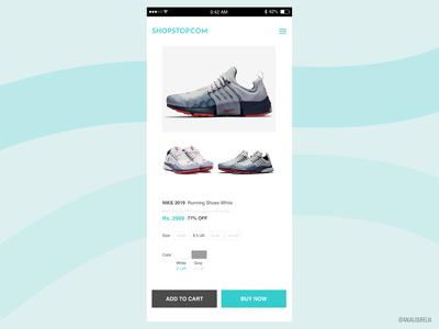 E Commerce Shop - Daily UI Challange #012