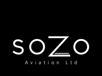 Sozo Aviation clothing website design stationary design logo design branding logo design
