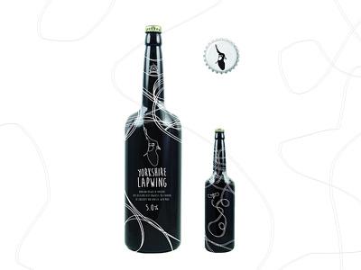 Yorkshire Lapwing leeds yorkshire logo design craft beer beer bottle beer packaging design craftbeer branding packaging