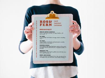 Rose & Fern Logo and Menu Design