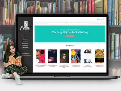 Seagull Books: specialized books on art, theater and cinema web design ecommerce shop ecommerce store seo digital marketing bigcommerce stencil bigcommerce publication ecommerce website design ecommerce business ecommerce design ecommerce bookstore books website design webdesign website