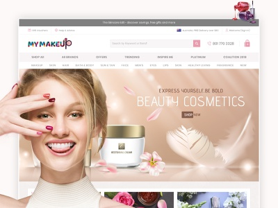 My Makeup: Comprehensive range of beauty products store landing page design digital marketing shopping store shopping shop ecommerce website design store shopify store shopify plus skin body makeup ecommerce store ecommerce business ecommerce website shopify ecommerce design ecommerce