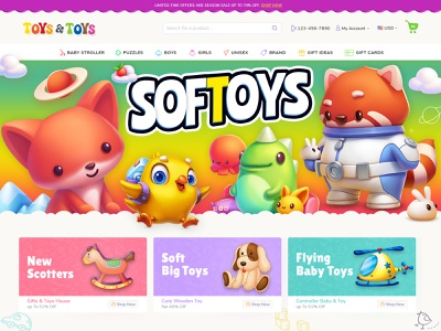 Toys and Toys boys girls unisex gaming games puzzles shopify gif ecommerce store ecommerce website ecommerce design ecommerce soft toys toys web store web site design website design web design website web