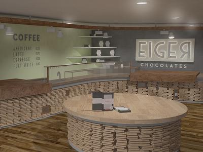 Eiger Chocolate Shop Interior Design
