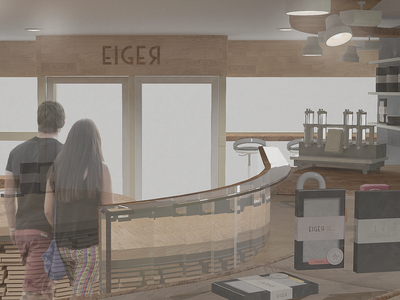 Eiger Chocolate Shop Interior Design