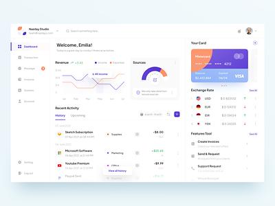 Finance Dashboard - Exploration✌️ atm card colorful populer iseng personal e-wallet finance uidesign dashboard minimalist app shot figma dribbble design ui