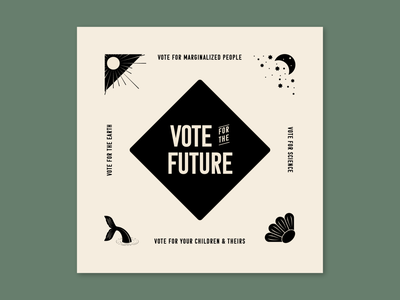 Vote for the Future 2020 design vector illustrator vector art vote vote2020 logo badge design