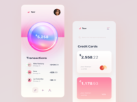 Finance & Credit Card - Fintech Mobile App