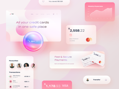 Banking app UI elements