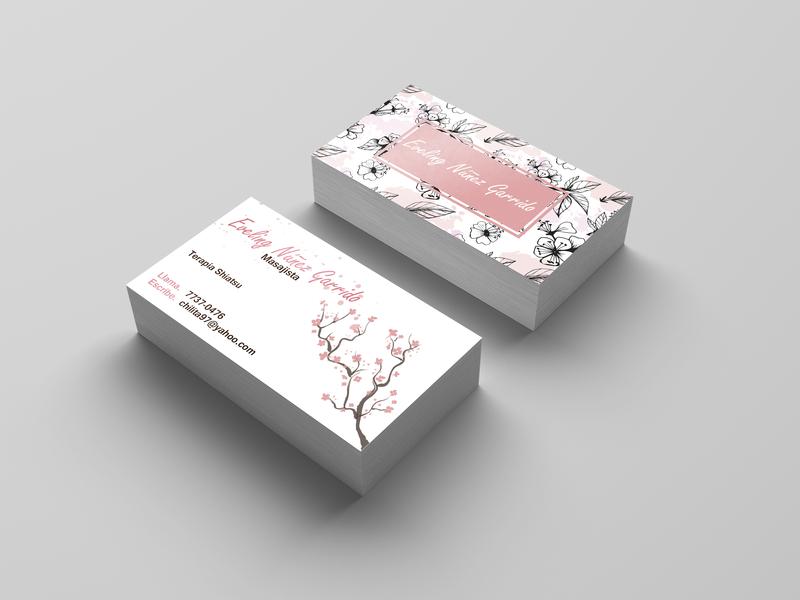 Shiatsu Business card for E adobe photoshop cc adobe illustrator cc business cards tarjeta de presentacion nice fine rose black and white therapist therapy massage japan business illustration businesscard