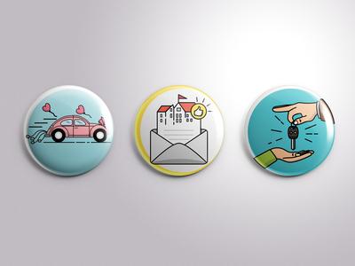 Icon Illustration (Pins)