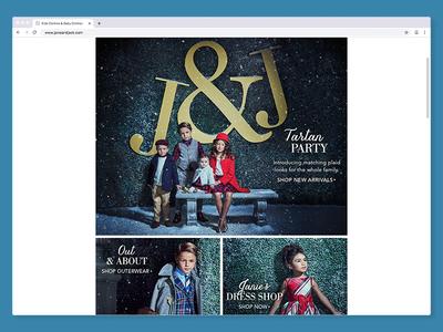 Tartan Party | Janie and Jack web ui design