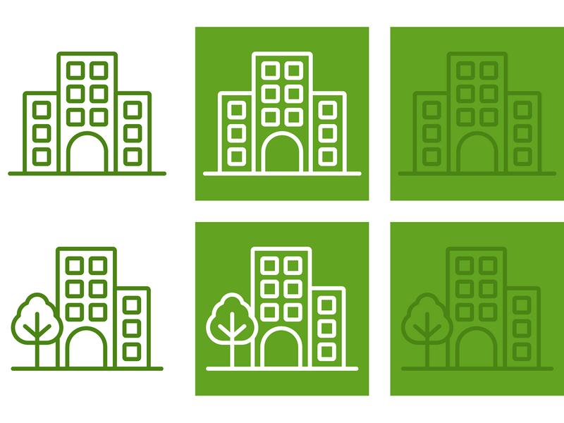 Apartment Iconography icon design web vector illustration