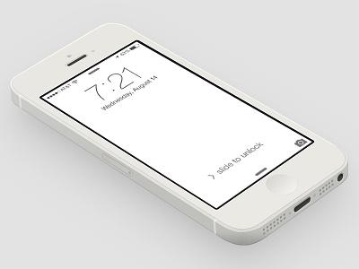 New iOS7 lock screen ios7 ios lockscreen colorscheme color colors scheme white monochrome troll