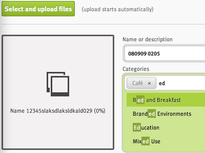 Elegant autocomplete/suggest green button dropdown autosuggest autocomplete input grey upload