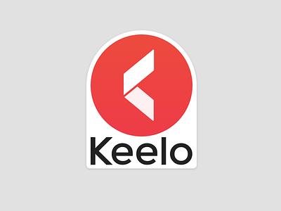 Keelo Sticker black white red stickermule sticker