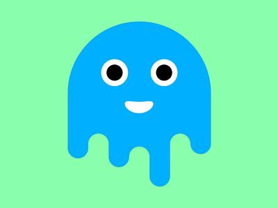 WIP: Droool mascot drawing water drop smile face green blue drip drool