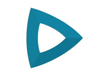 Arrow / Triangle blue triangle play arrow
