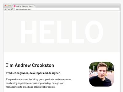 New personal website website