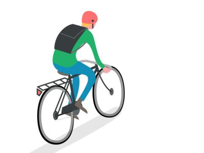 Cyclist bicycle bike helmet rack moustache handlebars