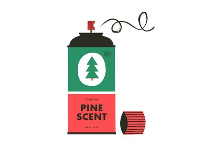 Pine Spray spray pine christmas decorations vintage illustration