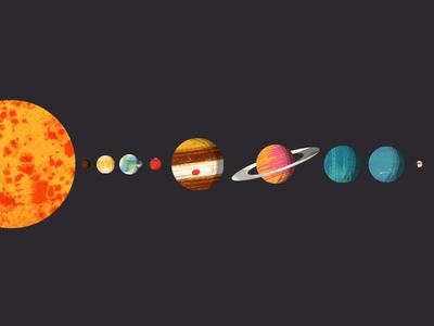 Planets of the Solar System texture pluto neptune uranus saturn jupiter mars moon earth venus mercury sun