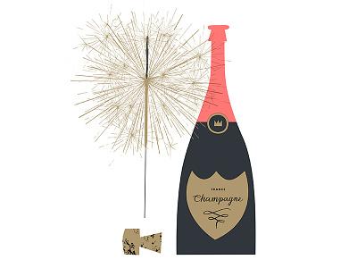 Congratulations Card celebration celebrate congratulations congrats bottle cork bubbly champagne sparkler
