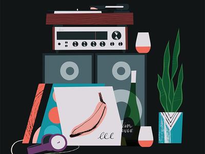 Hi-fi and wine
