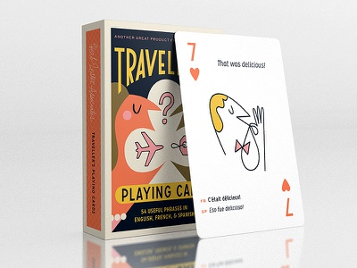 Traveller's Playing Cards for Herb Lester delicious translation illustration mockup playing cards travel herb lester