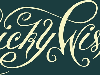 Wonky Oranamental Script ornament tricky wonky typography flourishes handlettering lettering script ligature