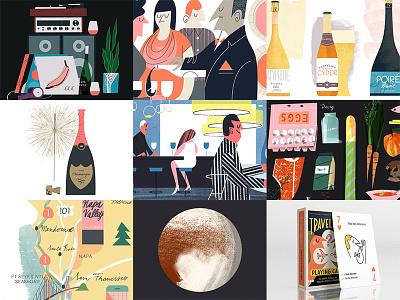 My 2016 Best Nine playing cards cider food eggs wine illustration nine best nine review 2016 best bestnine