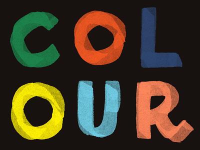 Colour brush color type lettering colour