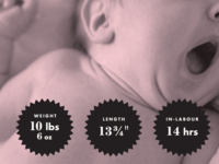Birth Announcement – Sample only