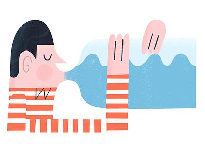 Stay hydrated oddbodiesillustration stripe bottle water illustration