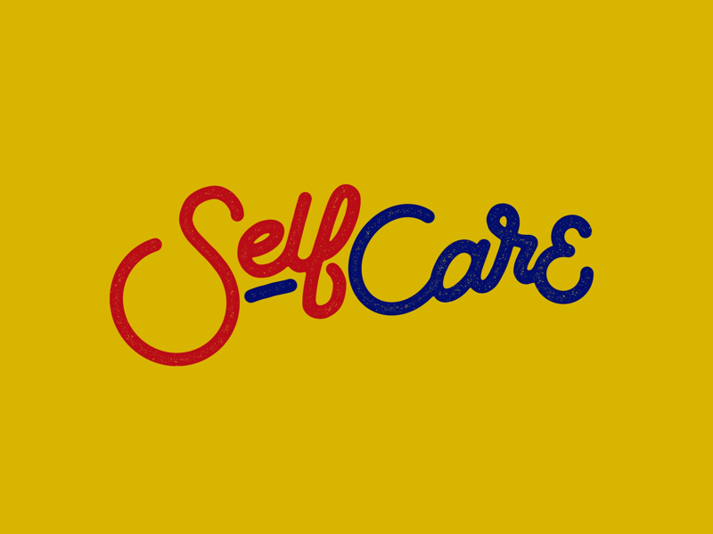 Self Care macmiller handlettering typography illustration