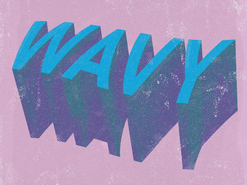 wAvY procreate ipad freelance graphic design canada ontario ottawa typography illustration lettering