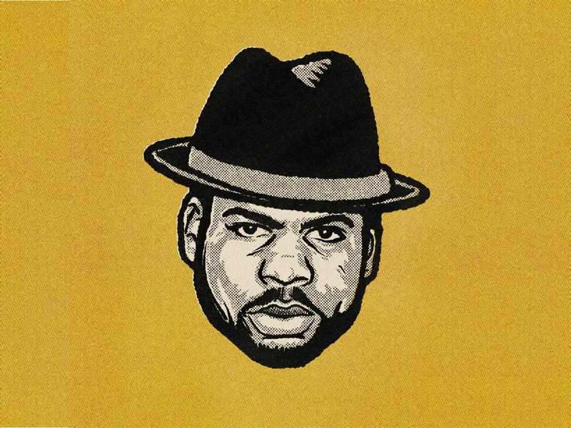 JAM MASTER JAY ipad hiphop music ontario ottawa procreate run dmc illustration portrait