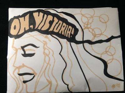 Oh, Victoria! prismacolor contour drawing pop graphic illustration art illustration