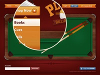Billiard E-commerce site detailed