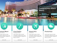 Miami Hotel Listing Site front page (snapshot)
