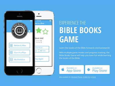 Bible Books Game iOS App Design